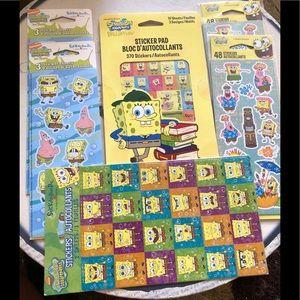 Lot of spongebob sticker packs 568 stickers